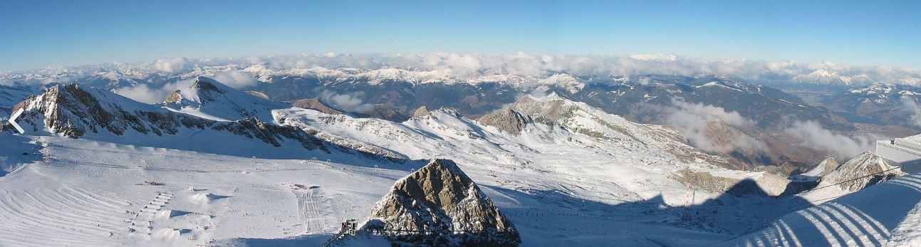 Kitzsteinhorn - Výhled od horní stanice lanovky ve výšce 3029 m