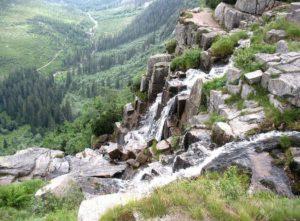 Pančavský vodopád s Labským dolem