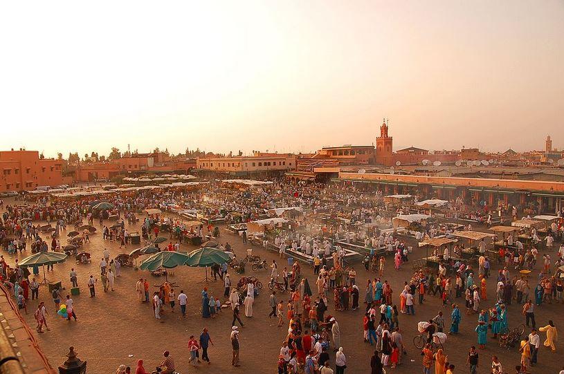 Marrákéš, náměstí Djemaa El Fna